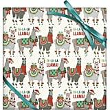 Holiday Llamas Flat Wrap