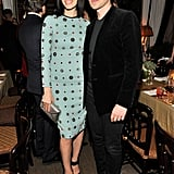 Jessica Paré and Erdem Moralioglu at Lisa Love's Erdem dinner.
