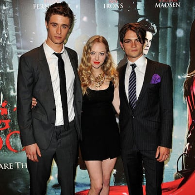 Pictures of Amanda Seyfried, Max Irons, and Shiloh Fernandez at the London Screening of Red Riding Hood
