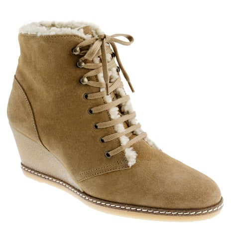 Attention J.Crew fans! The brand has updated their MacAlister Shearling Wedge Boots ($250) with a cozy new lining.