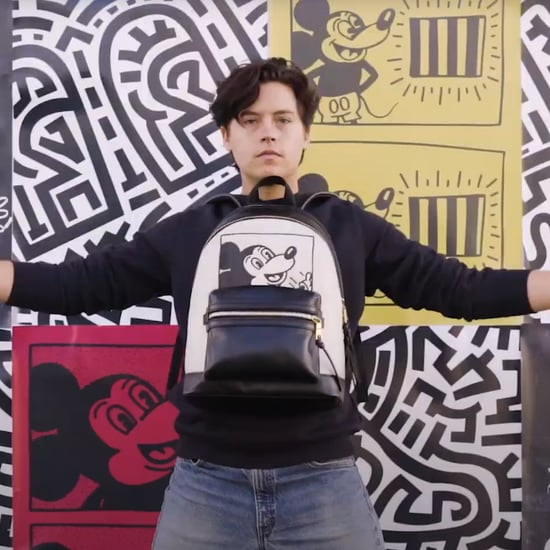 Cole Sprouse Models For Coach's Mickey Mouse x Keith Haring