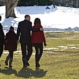 The whole family walked across the South Lawn of the White House on Dec. 24, 2009 to jet off to Hawaii for Christmas and New Year's Day.