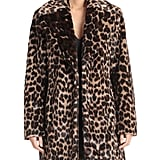 Avec Les Filles Leopard-Print Faux Fur Walker Coat