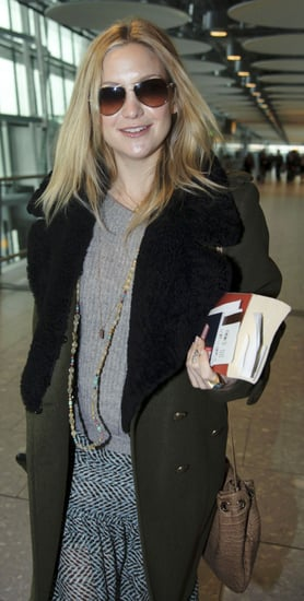 Pictures of Pregnant Kate Hudson at Heathrow Airport With Matthew Bellamy