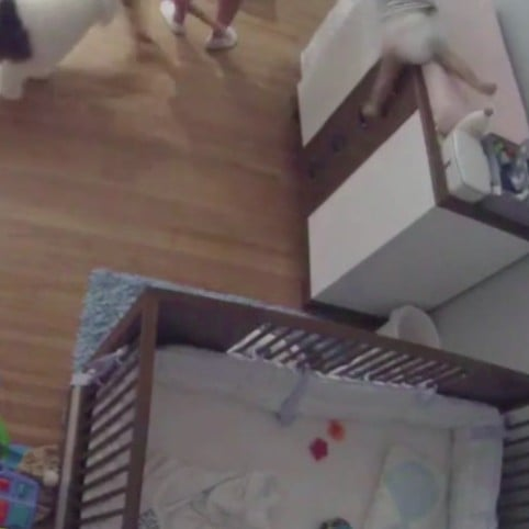 Brother Catches Baby Falling From a Changing Table