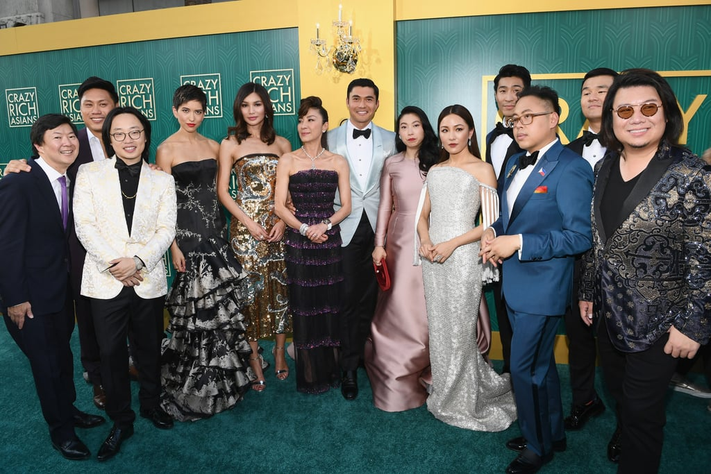The gorgeous stars of Crazy Rich Asians hit the red carpet on Tuesday night for the film's world premiere at TCL Chinese Theatre in Hollywood. Constance Wu, Henry Golding, Awkwafina, Gemma Chan, Ken Jeong, Michelle Yeoh, and more stepped out in their finest clothes to celebrate. Saying that the cast looked like they were going to a super fancy prom is a total understatement. The highly anticipated movie hits theatres on Aug. 15, and is already garnering so much buzz. It's the first Hollywood film in 25 years to feature Asian Americans in leading roles — the last was The Joy Luck Club in 1993. Keep reading to see the cast looking oh so fine on the red carpet.