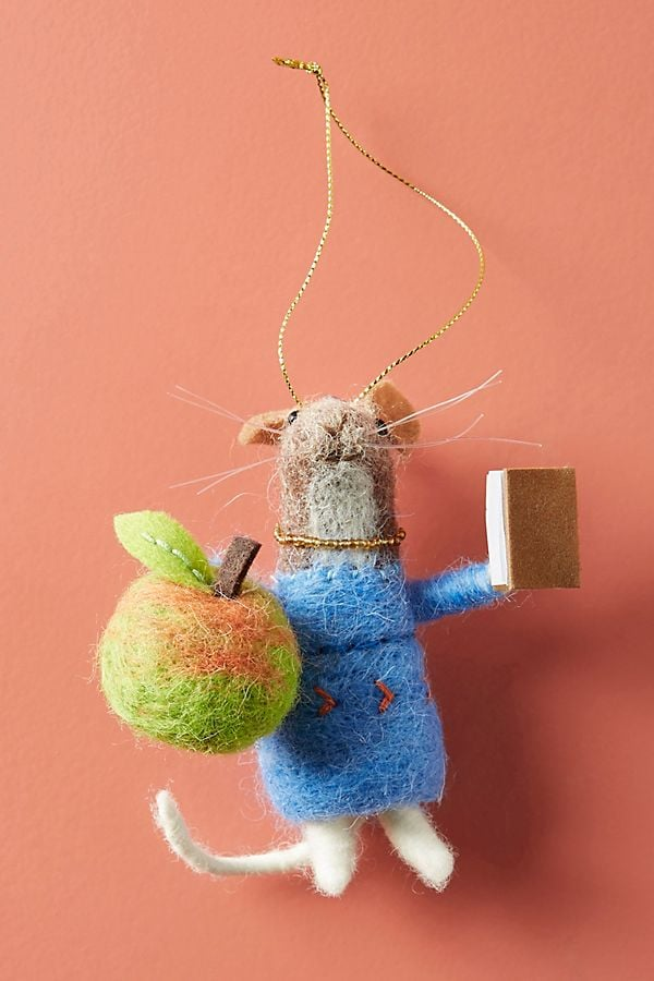 Teacher Mouse Ornament