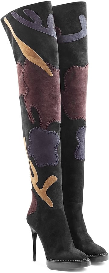 Burberry Prorsum Suede Over-the-Knee Patchwork Boots ($2,295)