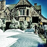 Matthew Morrison showed off a snow day in Los Angeles while filming Glee. Source: Twitter user Matt_Morrison