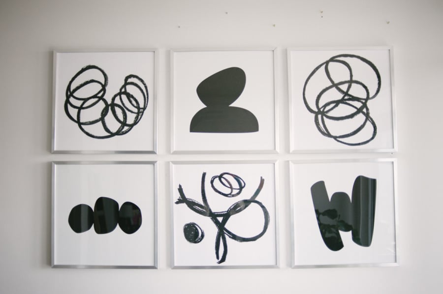 Go With Monochrome Gallery Walls