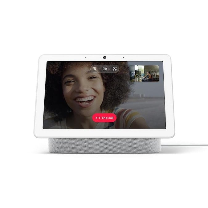 Google Nest Hub Max Smart Display with Google Assistant - Chalk Lowes.com