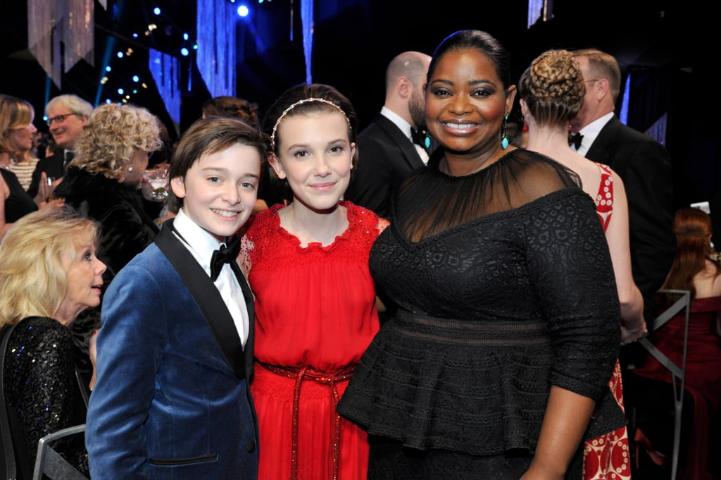 Pictured: Octavia Spencer, Millie Bobby Brown, Noah Schnapp