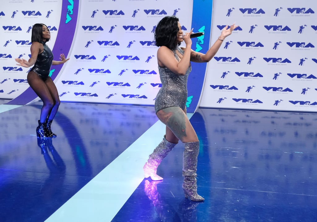 Cardi B S Tattoos Were On Display At The Vmas: What Is Cardi B's Leg Tattoo?