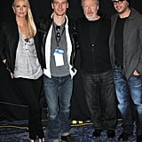 Charlize Theron and Michael Fassbender at WonderCon.