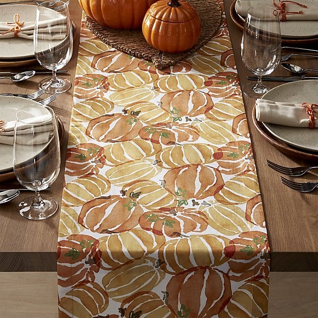90 Pumpkin Table Runner 30 Crate And Barrel Halloween Decor