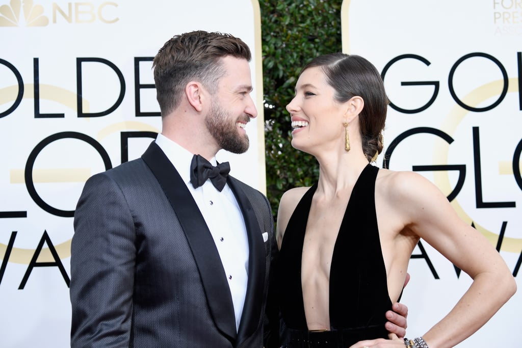 "Justin Timberlake and Jessica Biel make one beautiful pair. The couple just couldn't contain their laughter as they attended the Globes Globes on Sunday. While Jessica looked chic in a plunging dress, the ""Can't Stop the Feeling"" singer, who is nominated for best original song, looked very handsome in a grey and black suit. Aside from sharing loving glances, they also had a little fun with the cameras as Justin struck a few silly poses.       Related:                                                                The Golden Globe Awards Are Packed With Sexy Men                                                                   The Golden Globes Doubled as a Romantic Night Out For Hollywood's Biggest Couples                                                                   The Dresses at the Golden Globes Fulfilled All of Your Expectations"