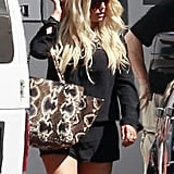 Jessica Simpson looked cute and casual.