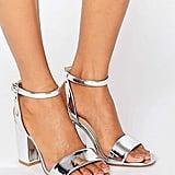 ASOS Heron Wide Fit Heeled Sandals (£24.50)