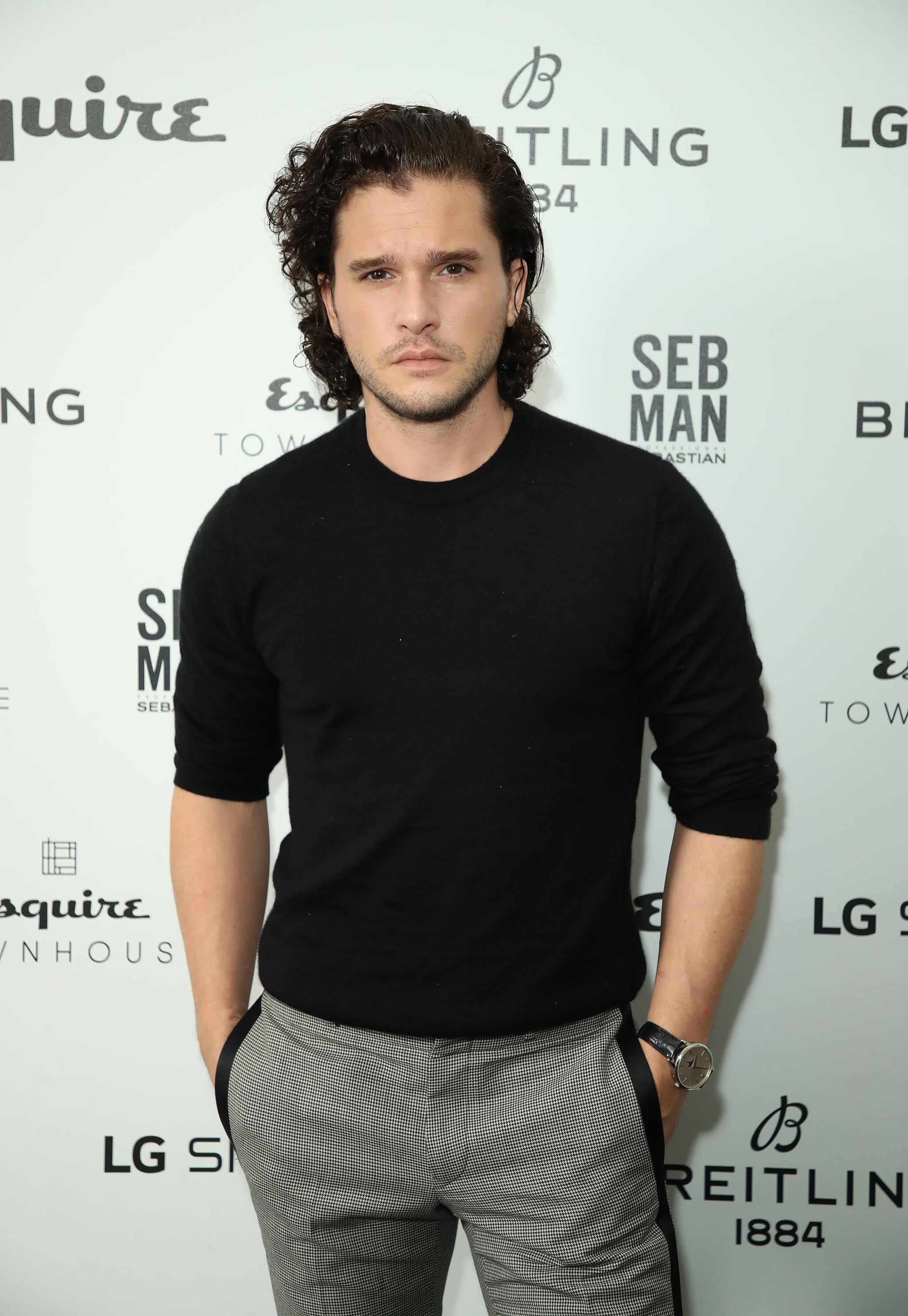 LONDON, ENGLAND - OCTOBER 13:  Kit Harington attends Esquire Townhouse in accation with Breitling at Esquire Townhouse on October 11, 2018 in London, England.  (Photo by Mike Marsland/Mike Marsland/Wireimage. )