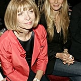 She sat front row with Anna Wintour at the Valentino runway show during Paris Haute Couture Fashion Week in July 2005.
