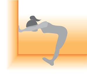 Stretch It: Calf and Shoulder Stretch Against a Wall