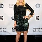 Elisha Cuthbert chose a sultry little leopard print dress while attending a celebration for independent films.