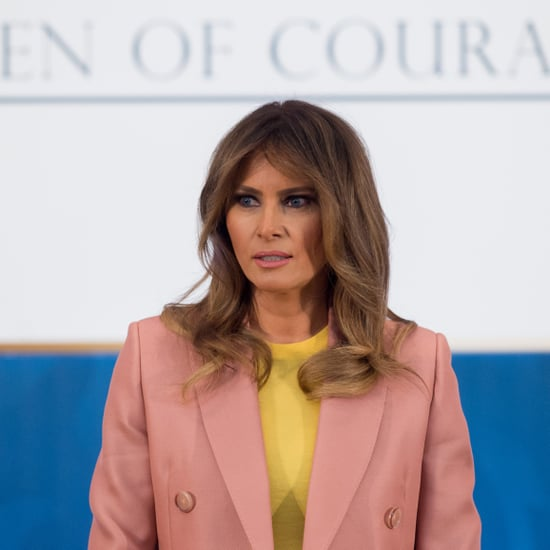 Melania Trump Wearing Light Pink Suit