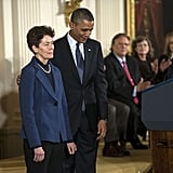 President Obama presented the Medal of Freedom to Sally Ride.