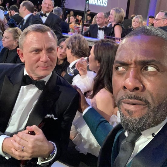 Idris Elba and Daniel Craig at the Golden Globes 2019