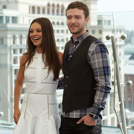 Mila Kunis and Justin Timberlake Pictures in Moscow