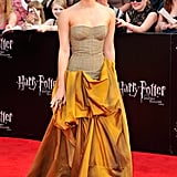 Emma in Bottega Veneta at the NYC premiere of Harry Potter and the Deathly Hallows: Part 2.