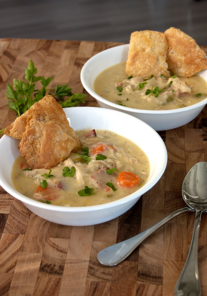Chrissy Teigen Recipe: Chicken Pot Pie Soup With Pie Crust Crackers