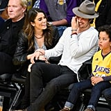 Nikki and Ian shared a laugh courtside at a December 2014 Lakers game.