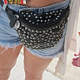 Although fanny packs have gotten a bad rap in recent years, it's hard to argue their utility. Plus, the metallic studs covering this black leather option add cool-girl edge to a stereotypically uncool carryall.