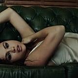 Selena's Satin Slip Dress