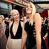 Pictured: Busy Philipps and Michelle Williams
