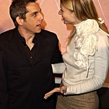She chatted with Ben Stiller at the LA premiere of The Royal Tenenbaums in December 2001.
