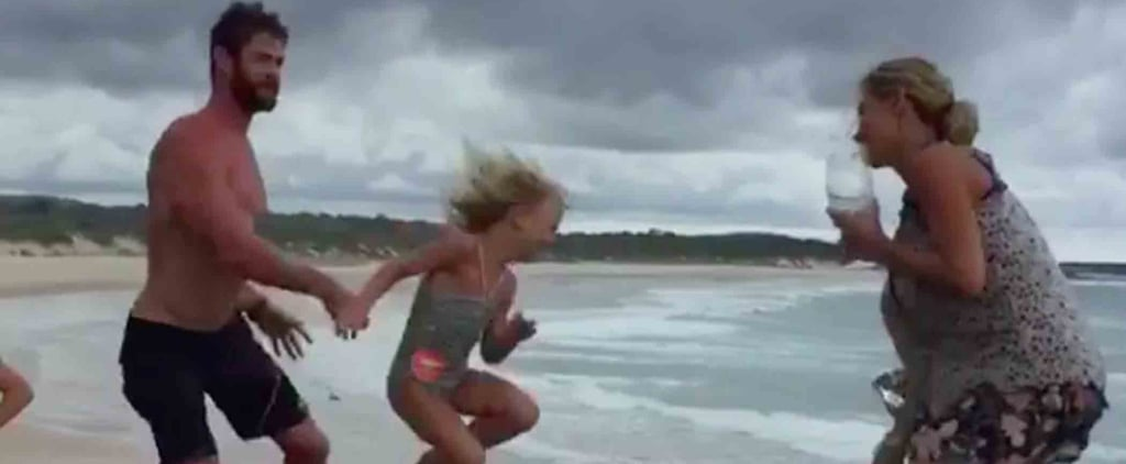 Chris Hemsworth Jump Roping With His Kids