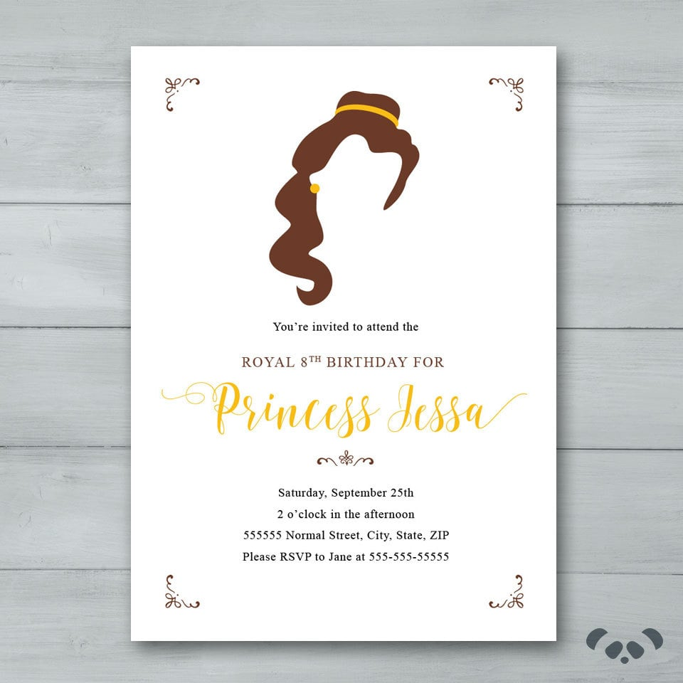 Beauty and the Beast Party Invitations Beauty and the Beast Party