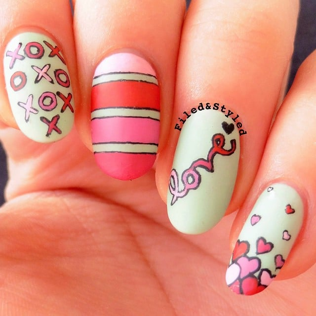 Fall in Love With the Best Valentine's Day Nails From Instagram - Pretty Valentine's Day Nail Art Inspiration From Instagram
