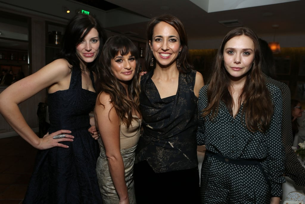 Elizabeth Olsen, Anne Fulenwider, Jessica Pare and Lea Michele attended the Marie Claire Hollywood Dinner in LA.