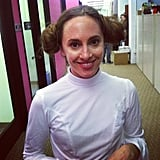 Beauty director Annie went classic pop culture with a Princess Leia costume.