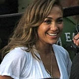 J Lo turned on her super star charm.