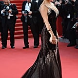 Nothing stuns on a red carpet like a perfect V-neck gown, as shown by Salma Hayek at the 2012 Cannes Film Festival.