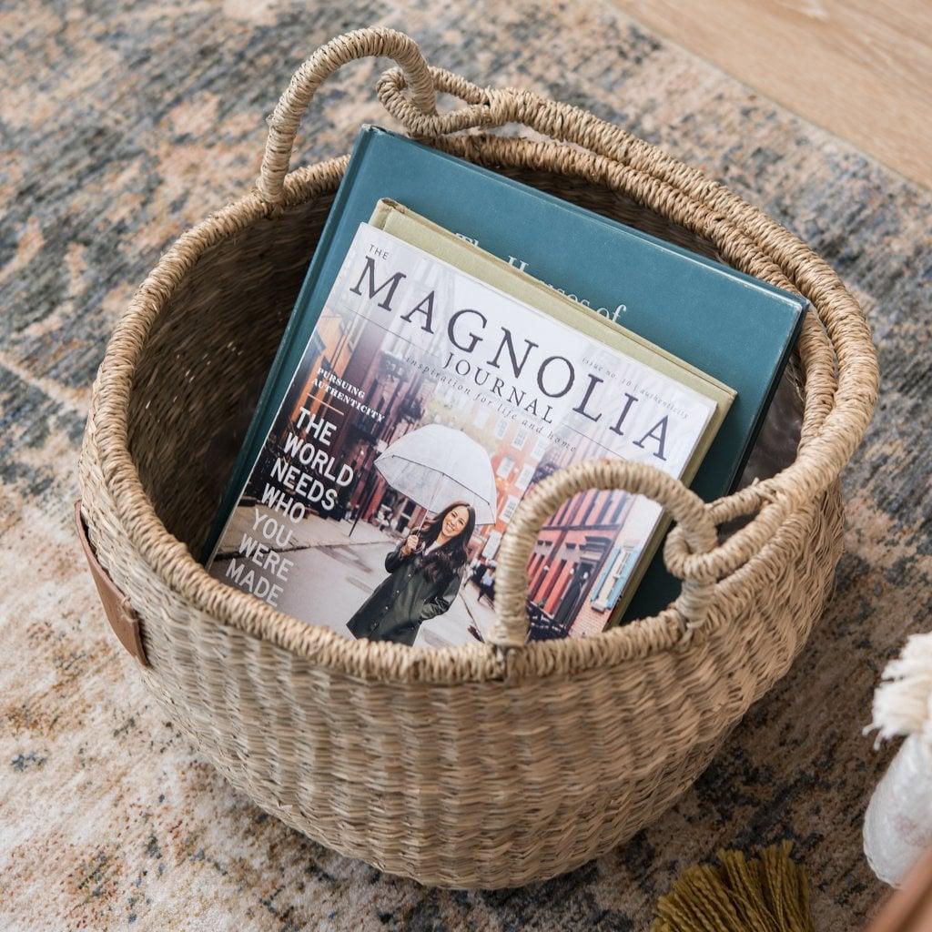 Natural Seagrass Basket Tote