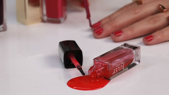How To Get Nail Polish Stains Out Of Clothes Video Popsugar Beauty
