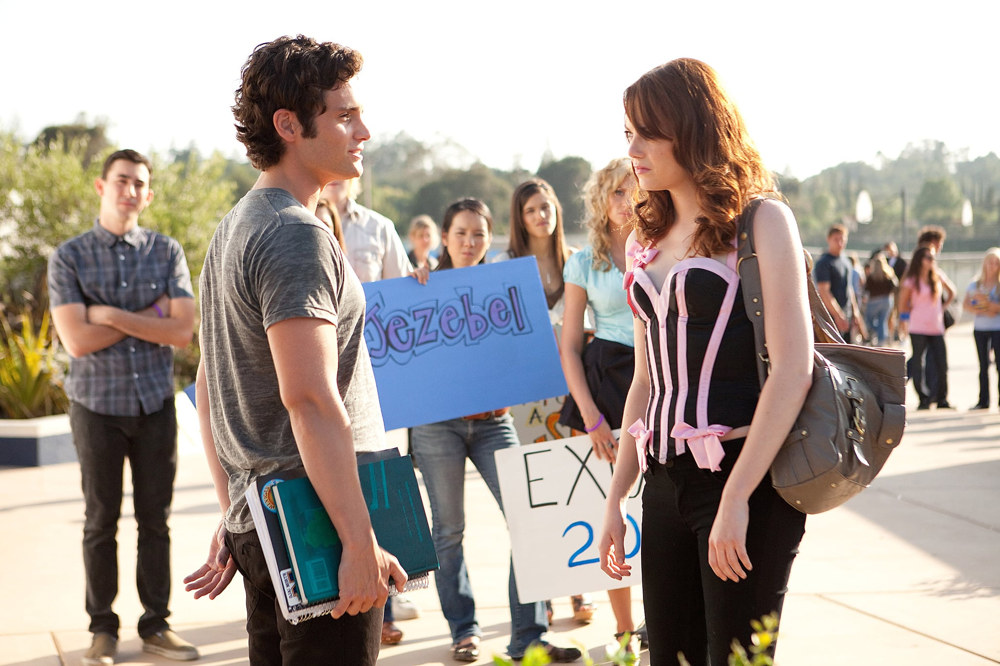 EASY A, from left: Penn Badgley, Emma Stone, 2010. ph: Adam Taylor/Screen Gems/Courtesy Everett Collection