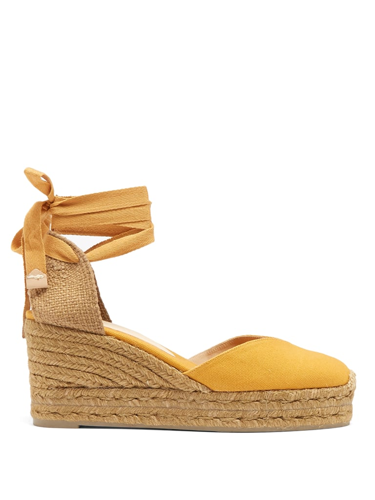 ec796e3ad8f Opt for these sunny Castañer Chiara Canvas Wedge Espadrilles ( 88 ...