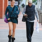 Nikki Reed and Ian Somerhalder sweat it out at a yoga class in LA on Tuesday.