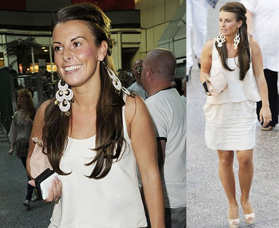 Pictures of Coleen Rooney Who Had A Night Off From Baby Kai for A Girls Night Out Seeing the Black Eyed Peas and Cheryl Cole